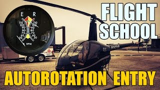 Helicopter Flight School - Autorotation Entry