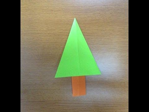 簡単 折り紙 : 折り紙 木 : youtube.com