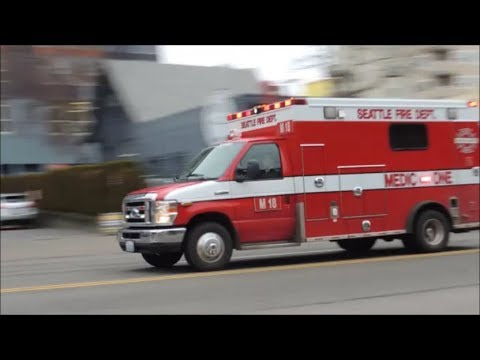 Seattle Fire Engine 18 and Medic 18 responding