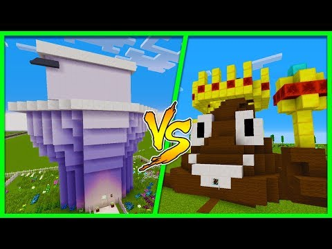 Minecraft - TOILET HOUSE VS POOP HOUSE! w/Little Ropo
