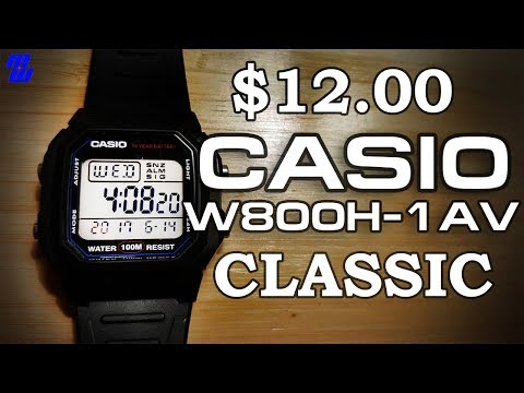 Casio W800H-1AV – Loving a 12 Dollar Watch? – Review, Measurements, Cinemas