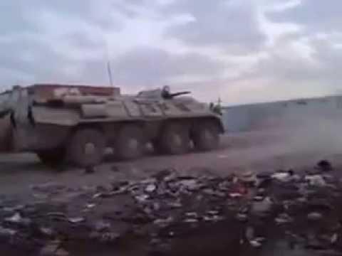 مدرعة الجيش العراقي (btr 80) تسحق داعش Armored Iraqi army in Action vs isis