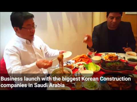 Basem Almanzalawy with the biggest Korean Construction companies in Saudi