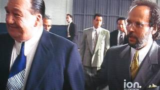 analyze this movie scene meeting with the bosses