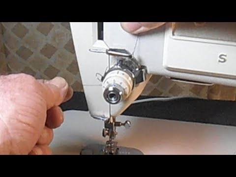 How to Thread the Needle and Bring Up the Bobbin Thread on a Singer Model 513
