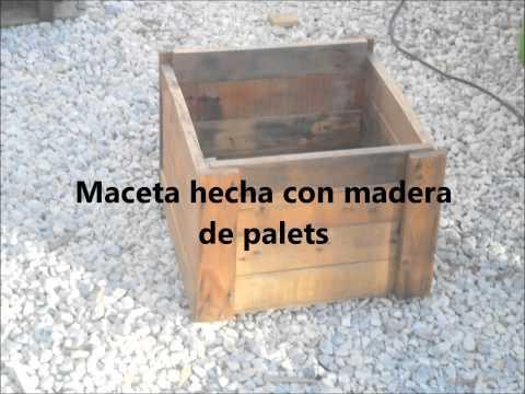 Construye con madera una jardinera doovi for Jardinera palet bricomania