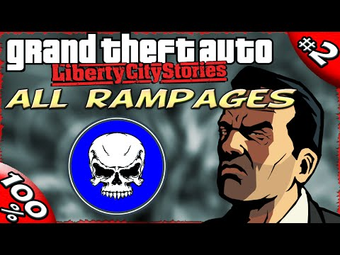GTA LCS [:2:] ALL Rampages [100% Walkthrough]