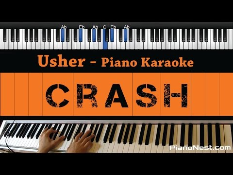 Usher - Crash - Piano Karaoke / Sing Along / Cover with Lyrics