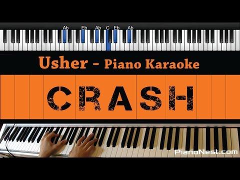 Usher - Crash - Piano Karaoke / Sing Along / Cover With Lyrics