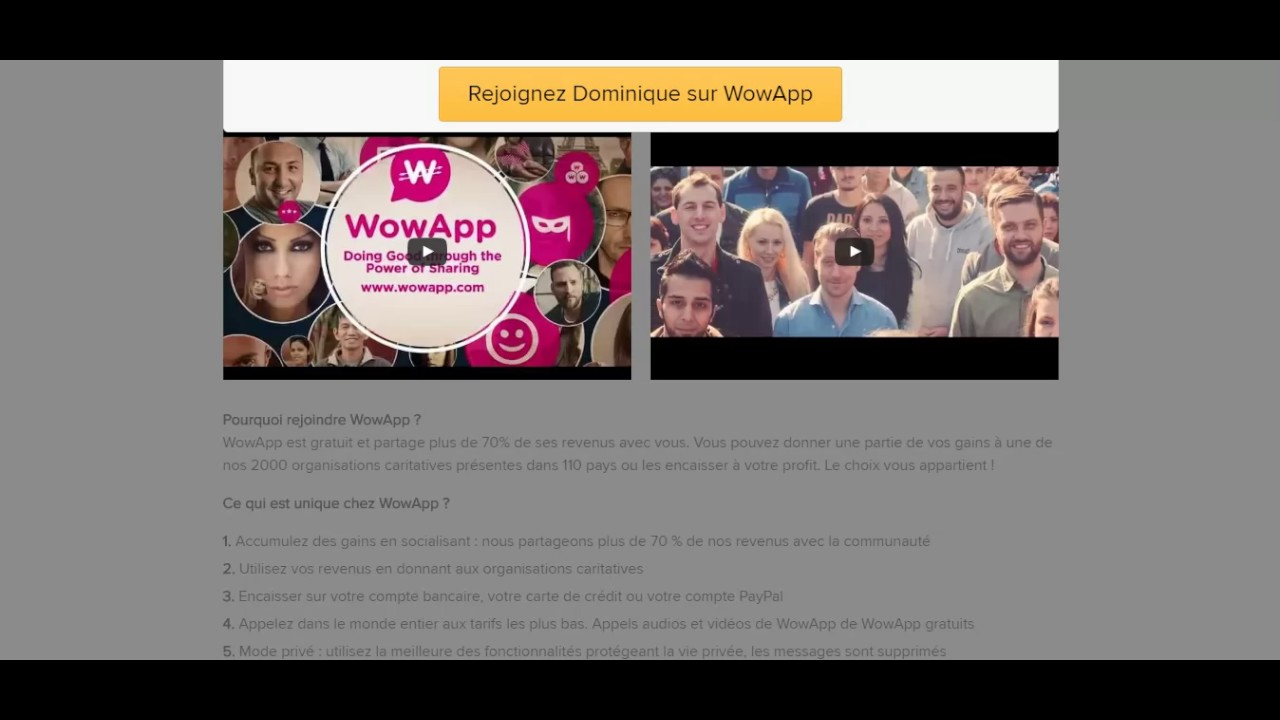 wowapp gratuitement
