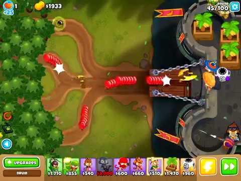 Bloons TD 6 - Dark Castle Impoppable with only towers on the castle