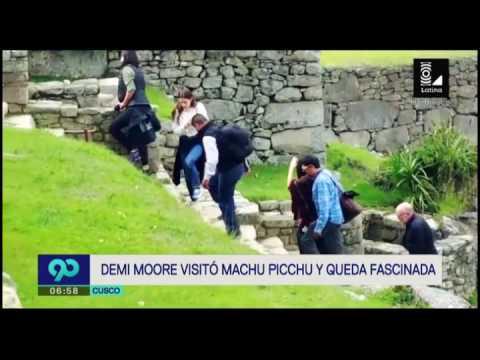 Demi Moore: así fue su recorrido por la ciudadela de Machu Picchu