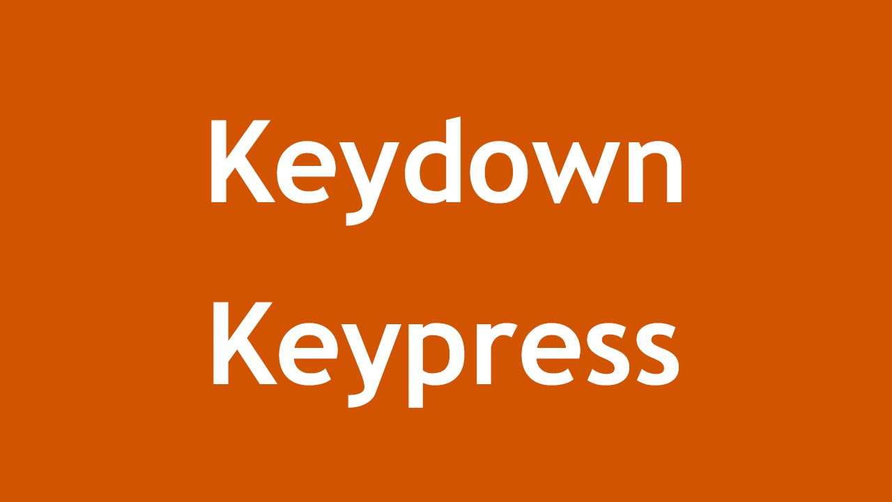 [ jQuery In Arabic ] #31 - Events Reference - Keydown, Keypress, Keyup