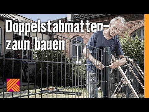 Doppelstabmattenzaun Bauen Hornbach Meisterschmiede Youtube