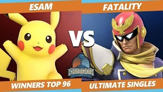 DHATL 2019 SSBU - PG   ESAM (Pikachu) Vs. Fatality (Captain Falcon) Smash Tournament Winners Top 96