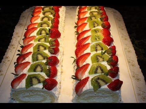 Zucchini Roll Cake