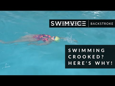 SWIMVICE | Swimming Crooked During Backstroke? Here's Why!