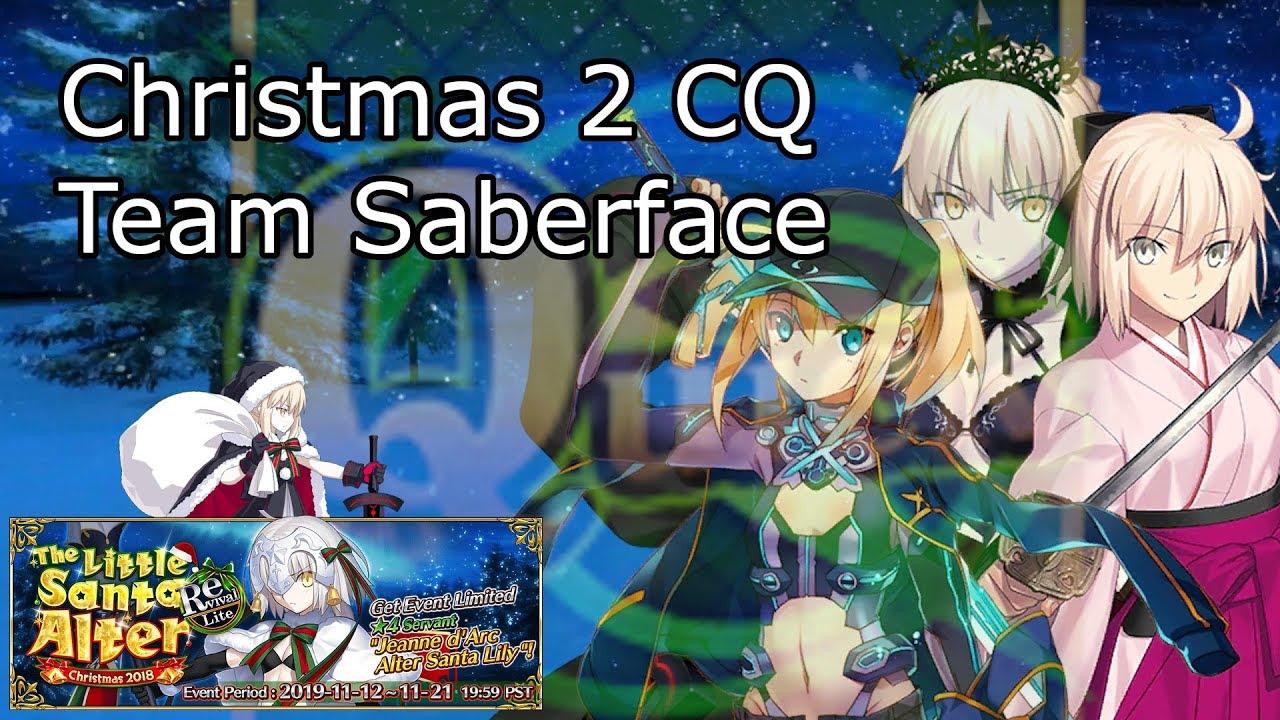 Fgo Na Christmas 2 Cq Saberface Team Youtube