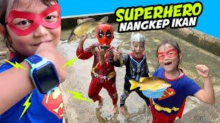 Drama Superhero Nyebur Kolam Menangkap Ikan sambil pake Jam Anti Air imoo Watch Phone Series Z5