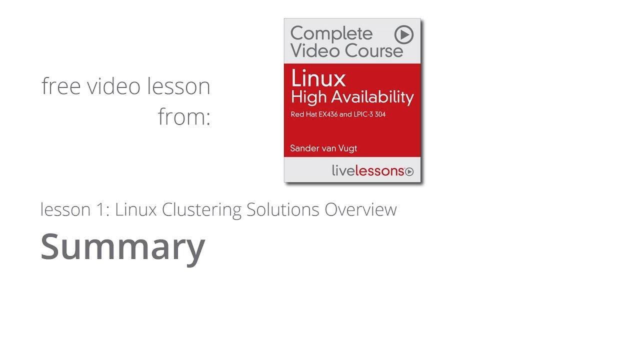 Linux clustering solutions summary lesson 1 linux high linux clustering solutions fandeluxe Images