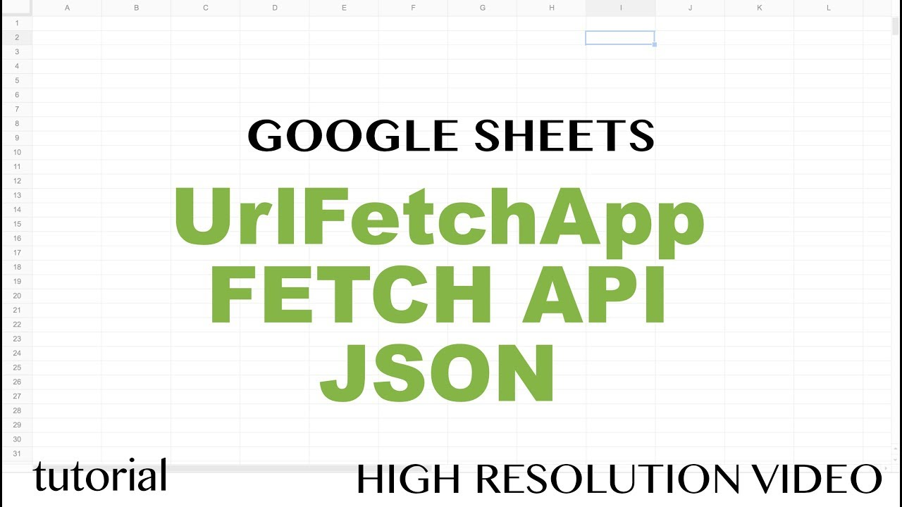 Google Sheets Import JSON - IMPORTJSON Function - Chicago