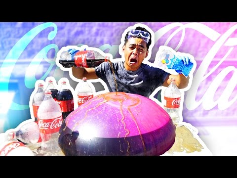 WUBBLE BUBBLE COKE GEYSER EXPERIMENT!