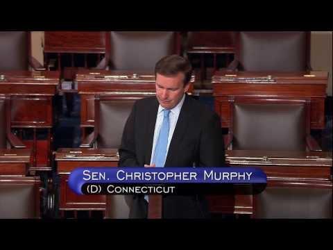 Sen. Chris Murphy speaks Tuesday on the Senate floor in support of the ENDA.