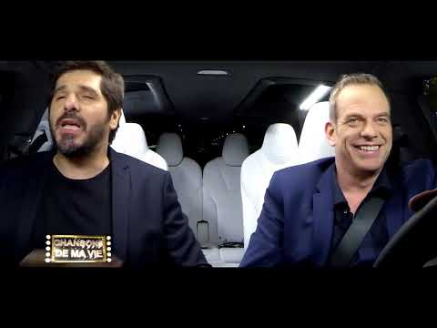 Garou et Patrick Fiori-Les Champs-Elysees ( car karaoke)
