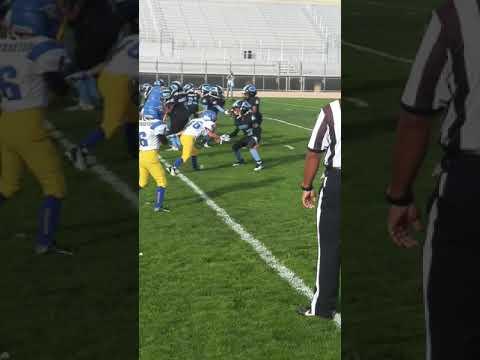 Mothershed#9 Gladiators vs Phelan-youth football highlights