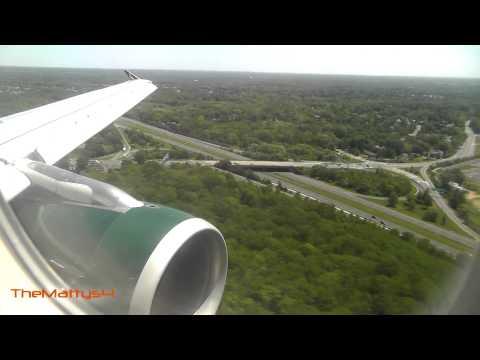 Frontier Airlines Landing Trenton Mercer Airport (TTN)