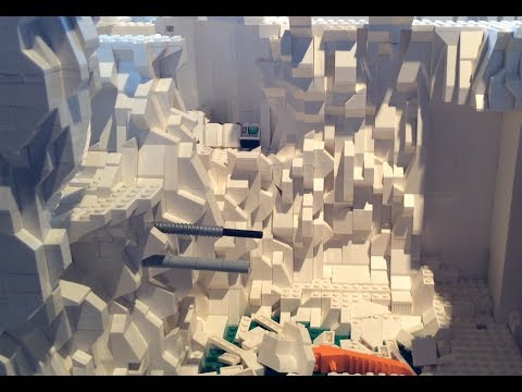 Building Hoth Echo Base in Lego Week 11 Big Ice Cave Progress Bridge & Armory