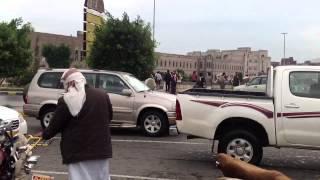 Sanaa Yemen rain-season road