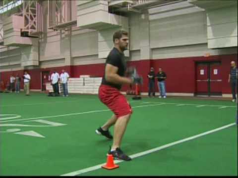 NFL Pro Timing Day OL Drills- Sebastian Vollmer New England Patriots