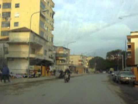 Driving in Tirana, Albania, 2005