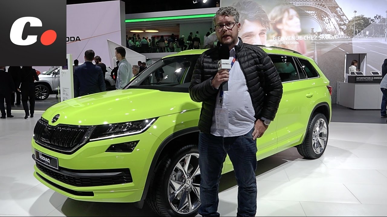 skoda kodiaq suv sal n de par s 2016 mondial de l 39 automobile youtube. Black Bedroom Furniture Sets. Home Design Ideas