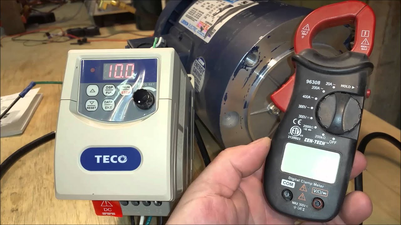 Leeson 1hp Ac Motor With Teco Frequency Controller  3