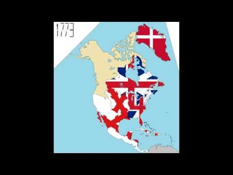 North America: Timeline Of National Flags (Part 2)