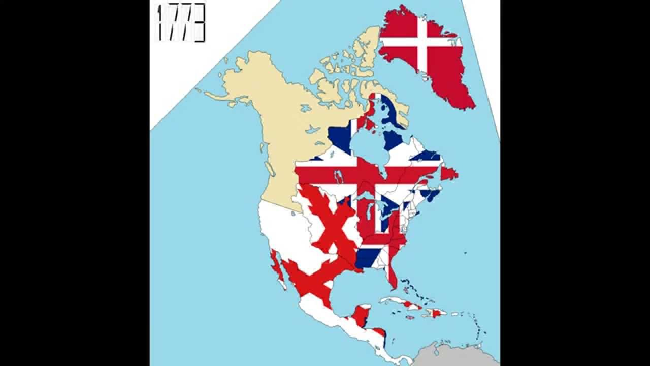 North America Timeline Of National Flags Part  YouTube - South america map and flags