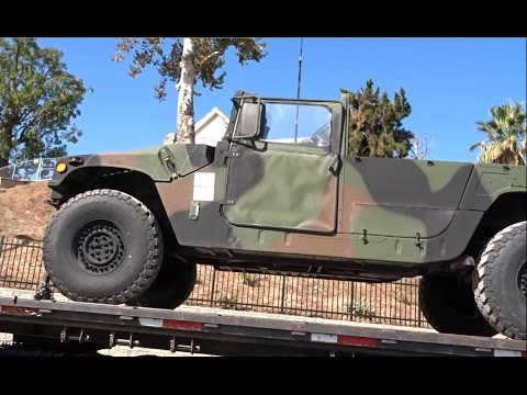 MILITARY VEHICLES BEING TRANSPORTED SPOTTED IN SAN BERNARDINO CALIFORNIA