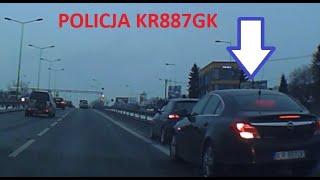 """Policja """"nieoznakowani"""" KR887GK i bezkarni - w pogoni za targetem ZABIĆ PIESZEGO???"""