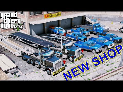 GTA 5 REAL LIFE MOD #52 - Buying & Setting Up A New Shop For Our Transportation Business