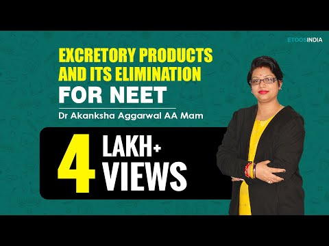 NEET  video lectures of Excretory Products and its elimination by Dr  Akanksha Aggarwal AA  Mam