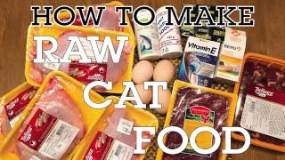 How Make Raw Cat Food