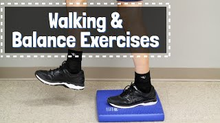 BEST Balance & Walking Exercises to Prevent Falls for Seniors, After Stroke, or Knee/Hip Replacement