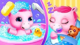 Играю и ухаживаю за милыми единорожками в игре Baby Pony Sisters