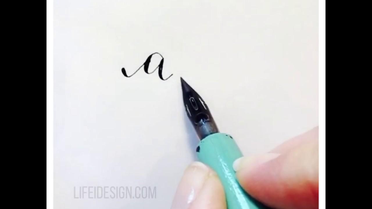 Grunge handwritten alphabet modern calligraphy capital letters