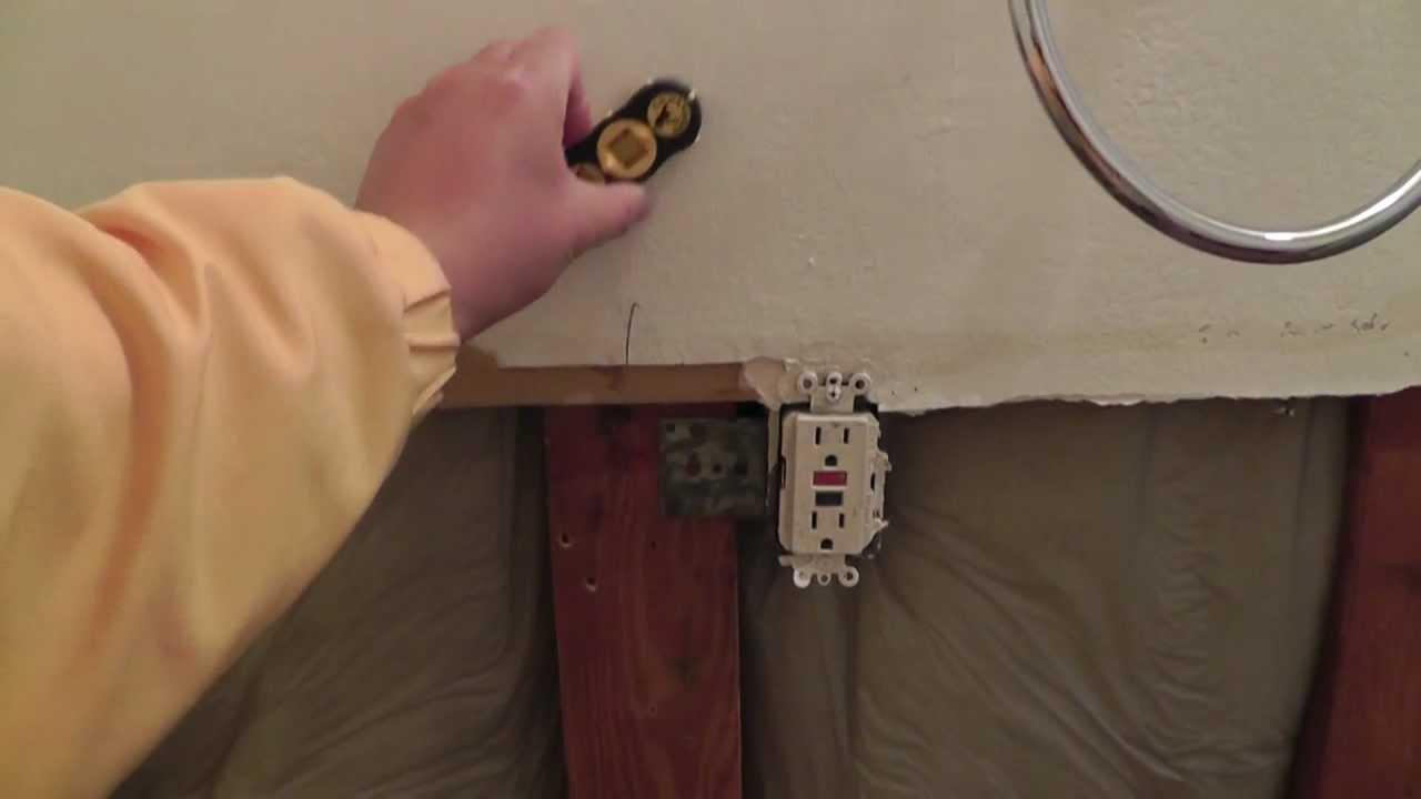 Lighting Basement Washroom Stairs: Find Wood Studs Behind Drywall