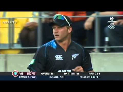 Corey Anderson - Brilliant Fielding On The Boundary