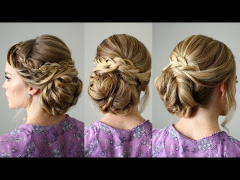 Looped Braid Updo Hairstyle
