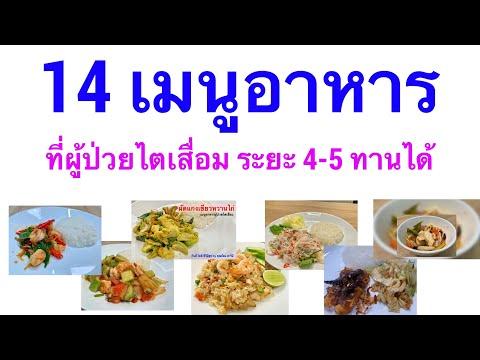 14 เมนู อาหารโรคไตระยะ 4 ระยะ5 กินได้